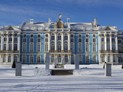 St Petersburg, Tsarskoye Selo, Catherine Palace Was Commissioned by the Empress Elizabeth, Russia Posters