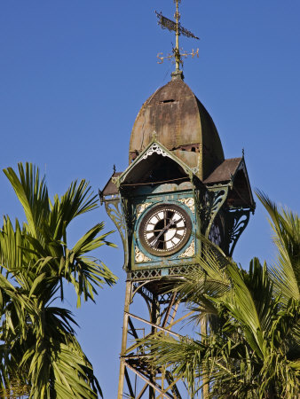 Burma, Rakhine State, the Old Clock Tower at Sittwe, Myanmar