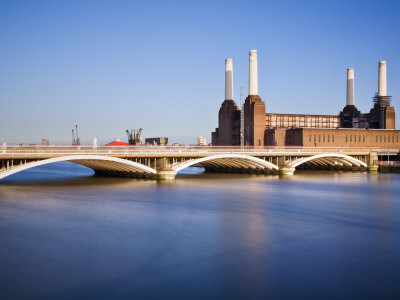 Battersea Power Station across from Thames by Guy Edwardes