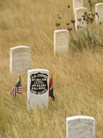 Memorial to General George Custer at the Little Bighorn Battlefiled National Monument, Montana
