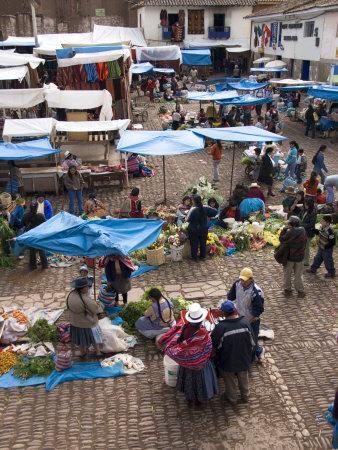 Market at Pisac Peru, Sacred Valley, South America