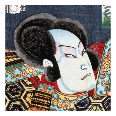 Actor as Samurai, Series of Kabuki Theatre, Ukiyo-e Print, 19th century