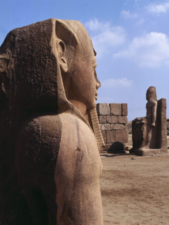 Colossal Statues, Great temple of Shoshenq III, c. 835-785 Tanis, Nile Delta, Egypt