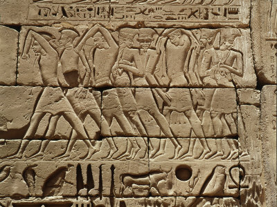 Philistines Captured by the Egyptians During Campaign by Ramesses III