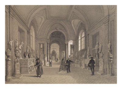 Vatican Museums, Gallery of Candelabra, Rome, Illustration from Album