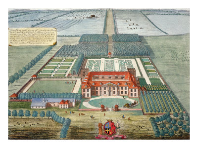 Grimsthorp in the County of Lincoln engraved by Johannes Kip
