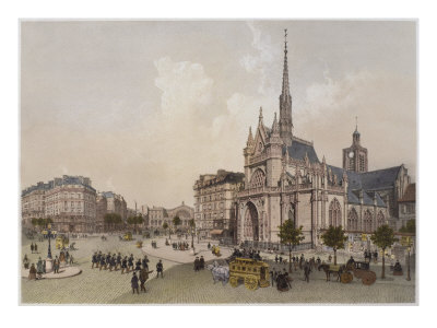 Church of St. Laurent, Paris, Illustration from