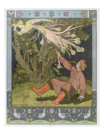 Prince Ivan and the Firebird, illustration for Russian Fairy Story, 'The Firebird'