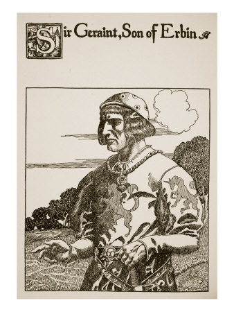 Sir Geraint, Son of Erbin, Illustration from 'The Story of Grail and the Passing of Arthur', C.1910