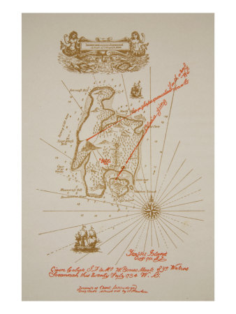 Map of Treasure Island, an illustration from