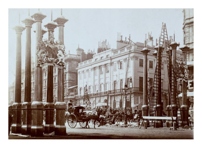 Park Lane Being Decorated for Queen Victoria's Diamond Jubilee, 1897
