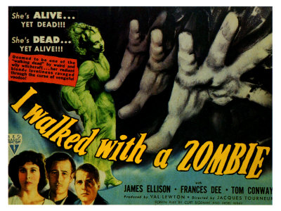 Poster from the 1943 movie I Walked with a Zombie