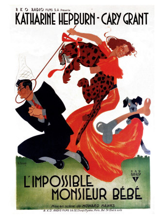 Bringing Up Baby, French Movie Poster, 1938