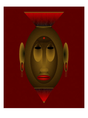 Mask of Dignity african art by Rich LaPenna