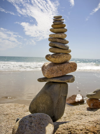 Rocks Balancing at the Beach, Aquinnah, Martha