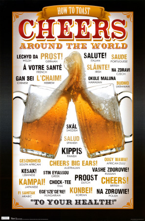 Cheers Around the World Poster
