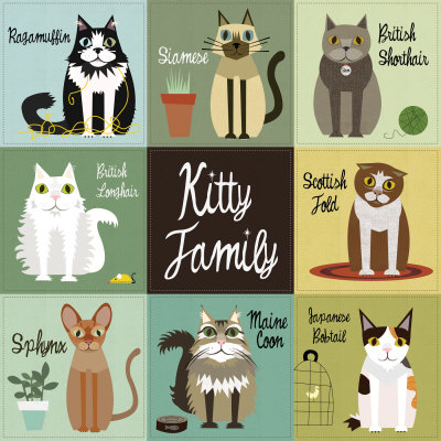 Kitty Family Art Print