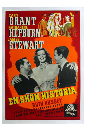 The Philadelphia Story, Swedish Movie Poster, 1940