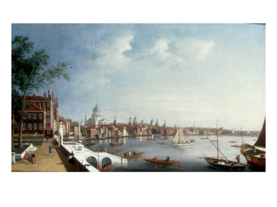 View of the Thames looking towards St Paul
