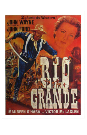Rio Grande, French Movie Poster, 1950