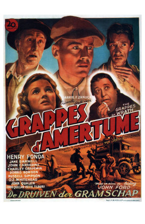 The Grapes of Wrath, Belgian Movie Poster, 1940