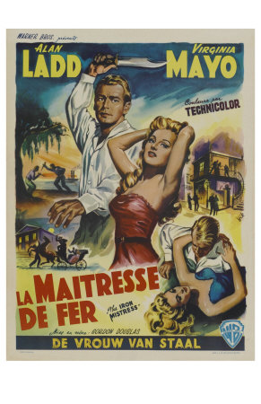 The Iron Mistress, Belgian Movie Poster, 1952