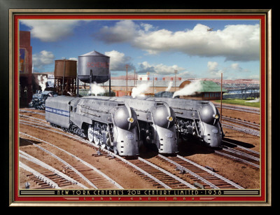 New York Central's 20th Cenury Limited Framed Art Print