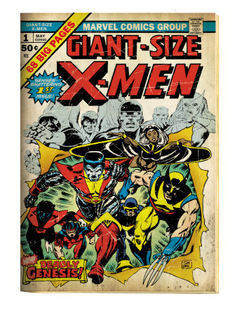 Marvel Comics Retro: The X-Men Comic Book Cover #1 (aged)