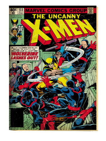 Marvel Comics Retro: The X-Men Comic Book Cover #133, Wolverine Lashes Out (aged)