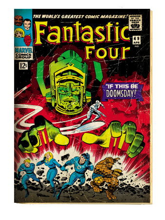 Marvel Comics Retro: Fantastic Four Family Comic Book Cover #49, If This Be Doomsday! (aged)
