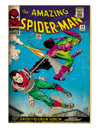 Marvel Comics Retro: The Amazing Spider-Man Comic Book Cover No.39, Green Goblin (aged)