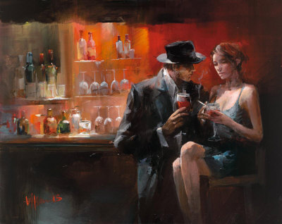 lovers at the bar