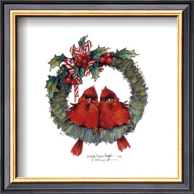 Merry Wreath II Framed Art Print