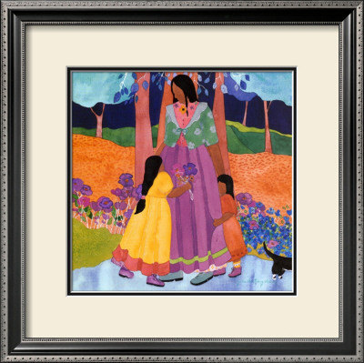 Familia Framed Art Print