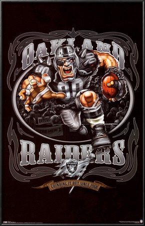 Oakland Raiders Lamina Framed Poster