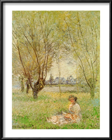 Woman Under the Willows Framed Art Print