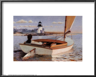 Rounding Brant Point Lamina Framed Art Print
