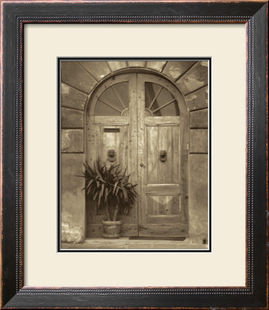 Grande Villa Entrance I Framed Art Print
