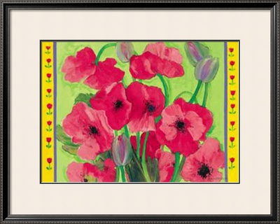 Intensiv Mohn Framed Art Print