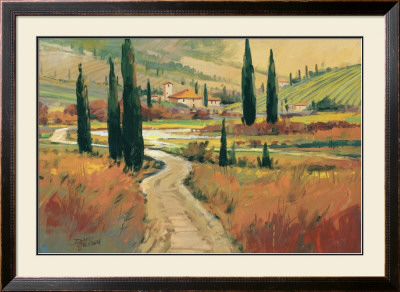 September in Tuscany I Framed Art Print