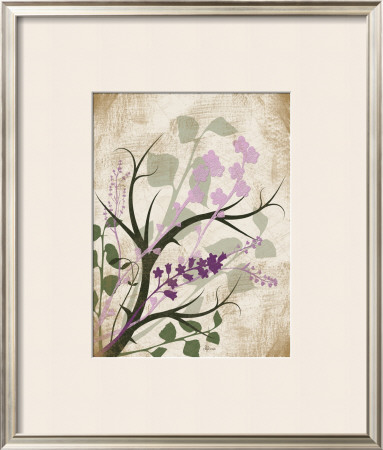 Lavender and Sage Florish Framed Art Print