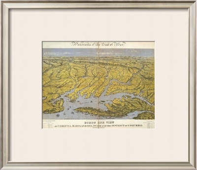 Virginia, Maryland Delaware and The District of Columbia, c.1861 Framed Giclee Print