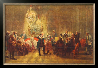 The Flute-Concert of Friedrich II in Sanssouci