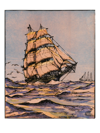 Reprints of the Baltimore Clipper Ship available by clicking on the image.