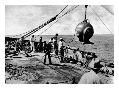 Dr. Beebe's Bathysphere, August 1934