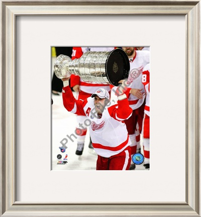 Henrik Zetterberg with the Stanley Cup Game 6 of the 2008 NHL Stanley Cup Finals; #27