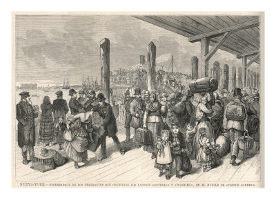 Mormon immigrants arriving in New York.