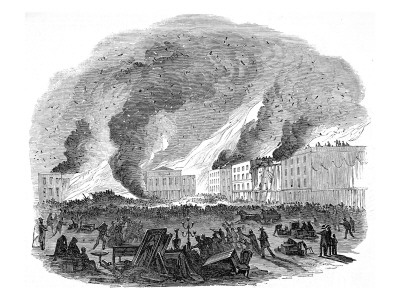 The 1850 fire in San Francisco.