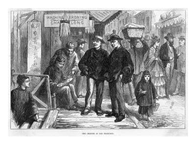 Chinatown San Francisco 1800s.