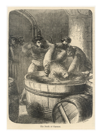 The Duke of Clarence Is Drowned in a Butt of Malmsey Wine